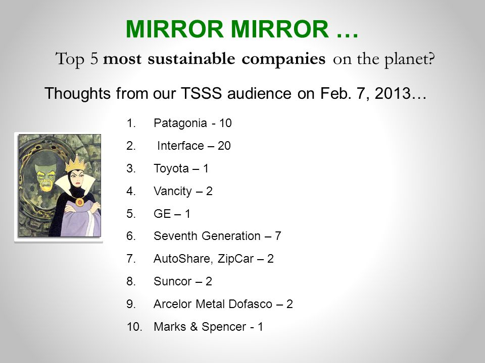 Top 5 most sustainable companies on the planet