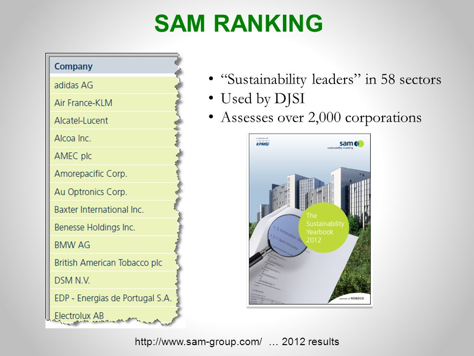 http://www.sam-group.com/ … 2012 results