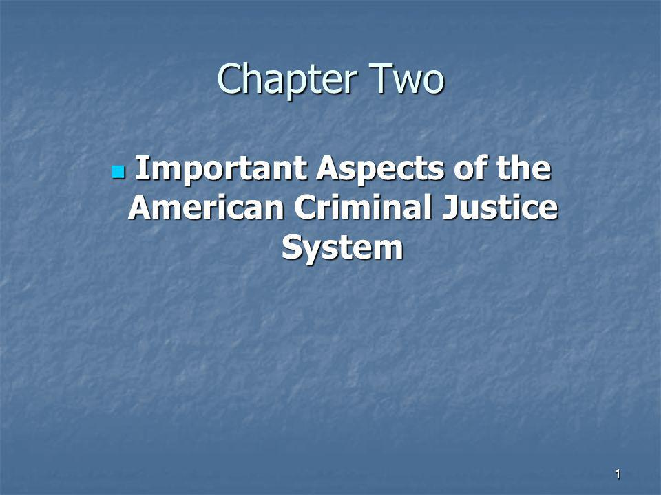 Important Aspects of the American Criminal Justice System