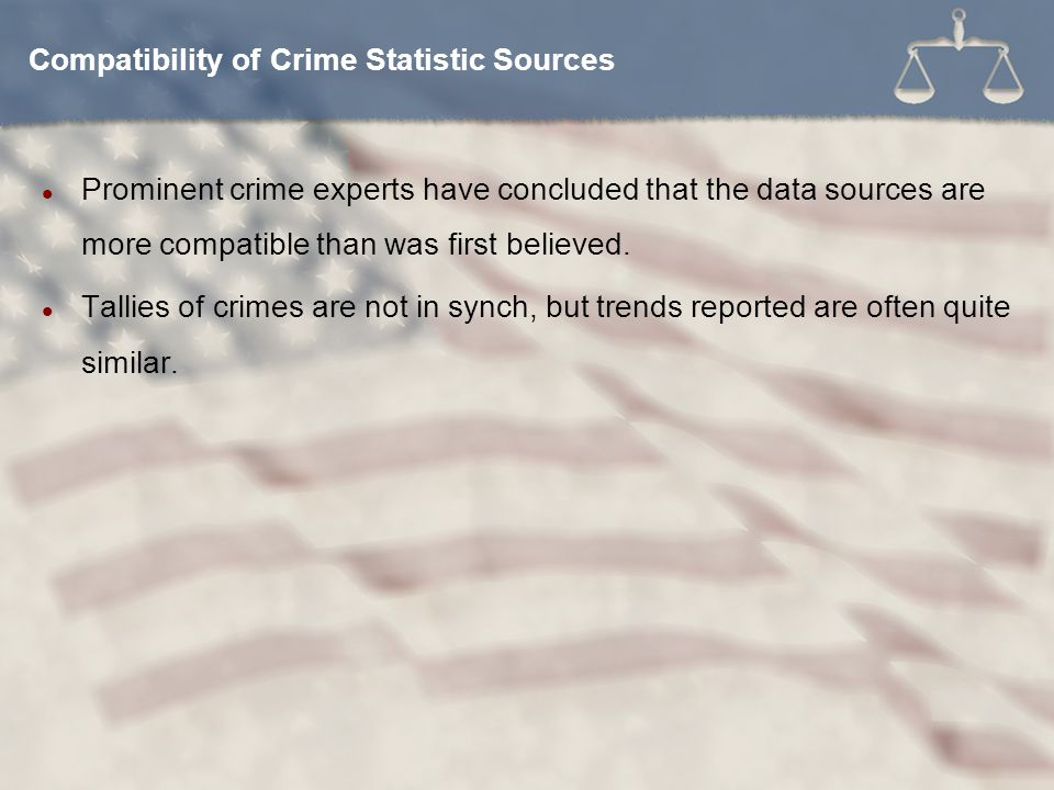 Compatibility of Crime Statistic Sources