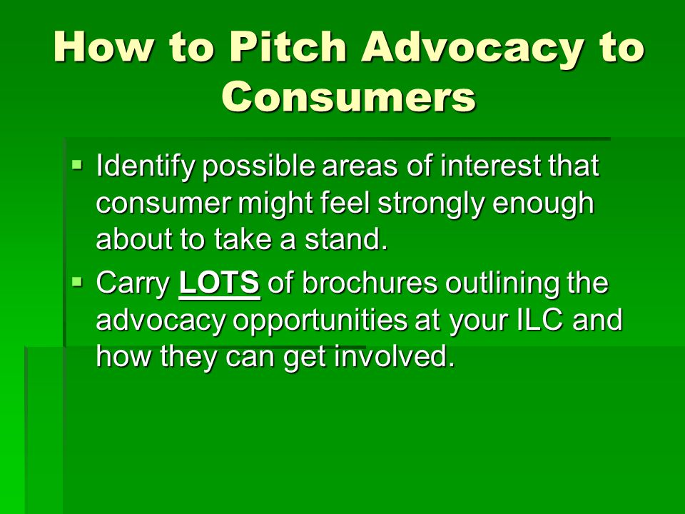 How to Pitch Advocacy to Consumers