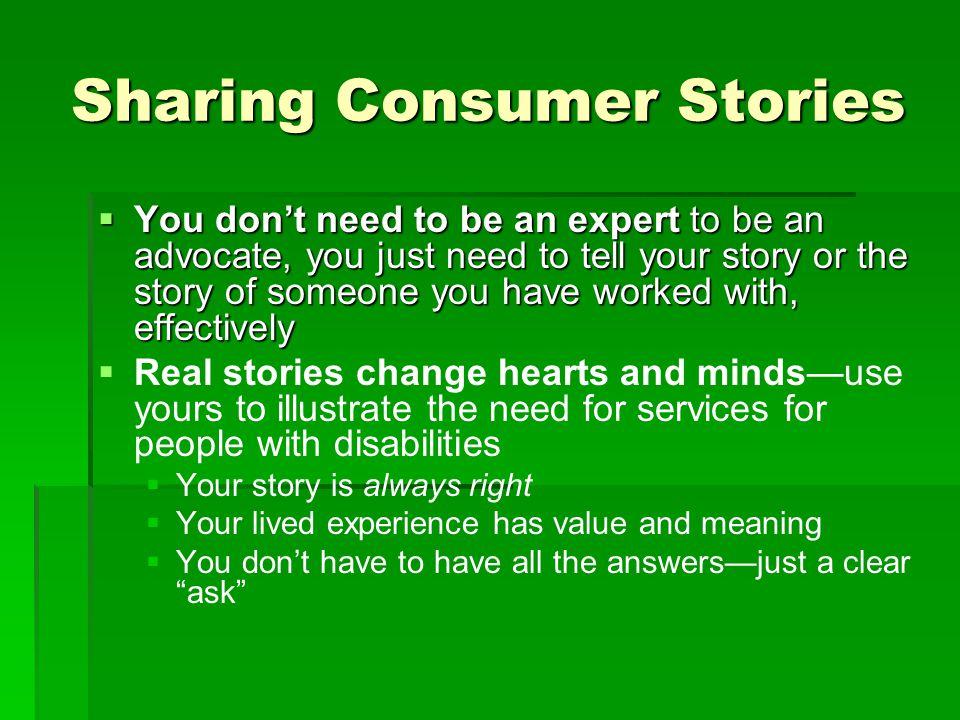 Sharing Consumer Stories