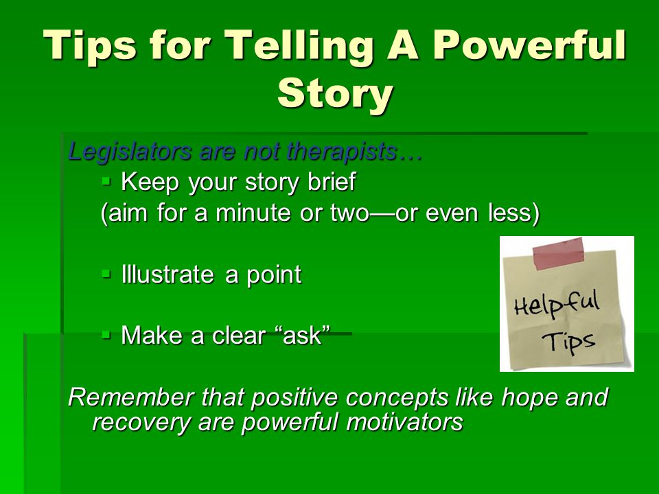 Tips for Telling A Powerful Story