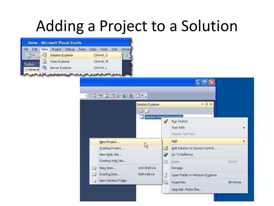 Adding a Project to a Solution