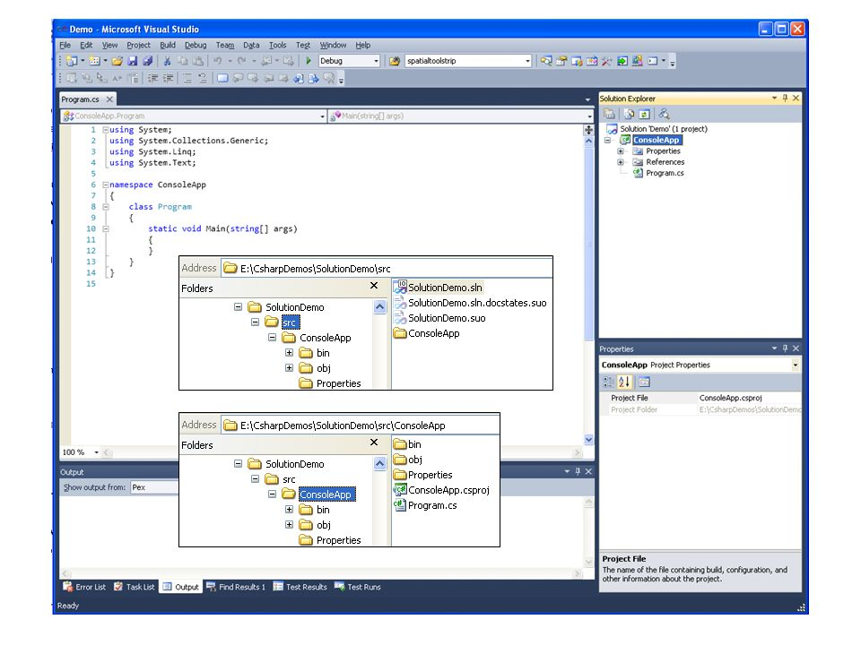 Sln and Project code