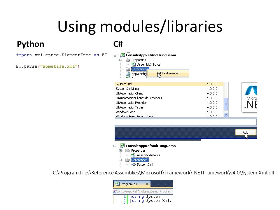 Using modules/libraries