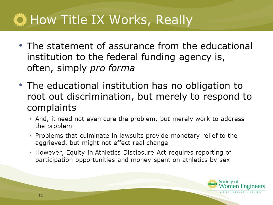 How Title IX Works, Really