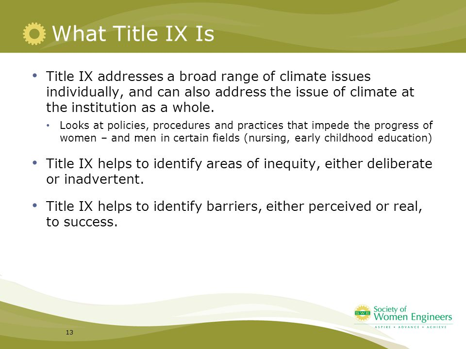 What Title IX Is