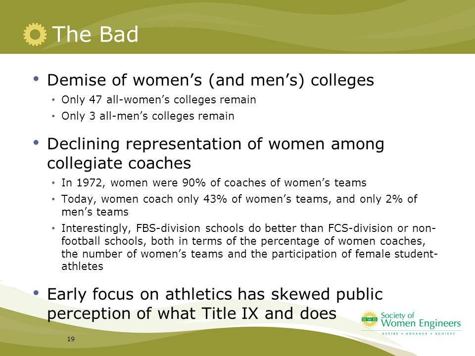 The Bad Demise of women's (and men's) colleges