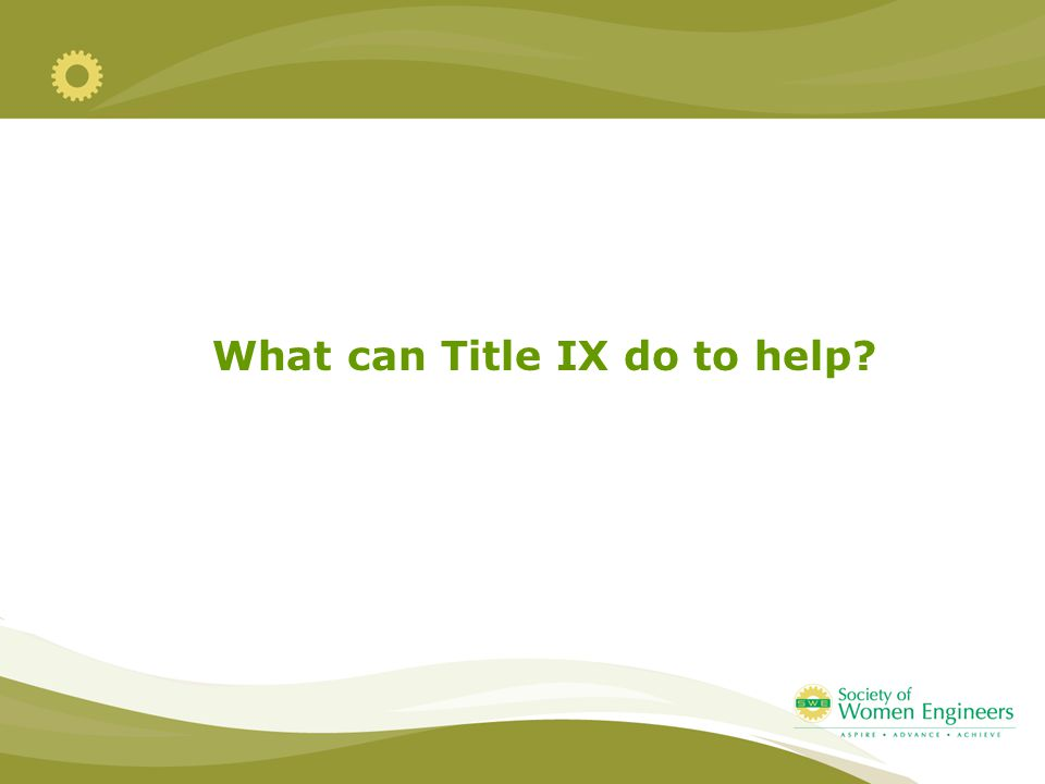 What can Title IX do to help