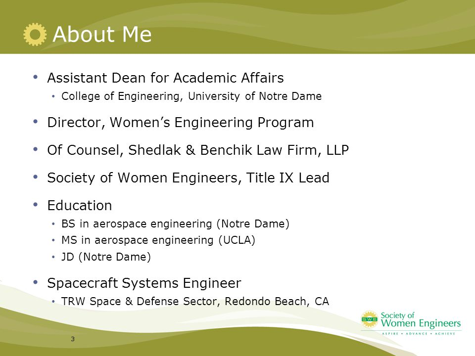 About Me Assistant Dean for Academic Affairs