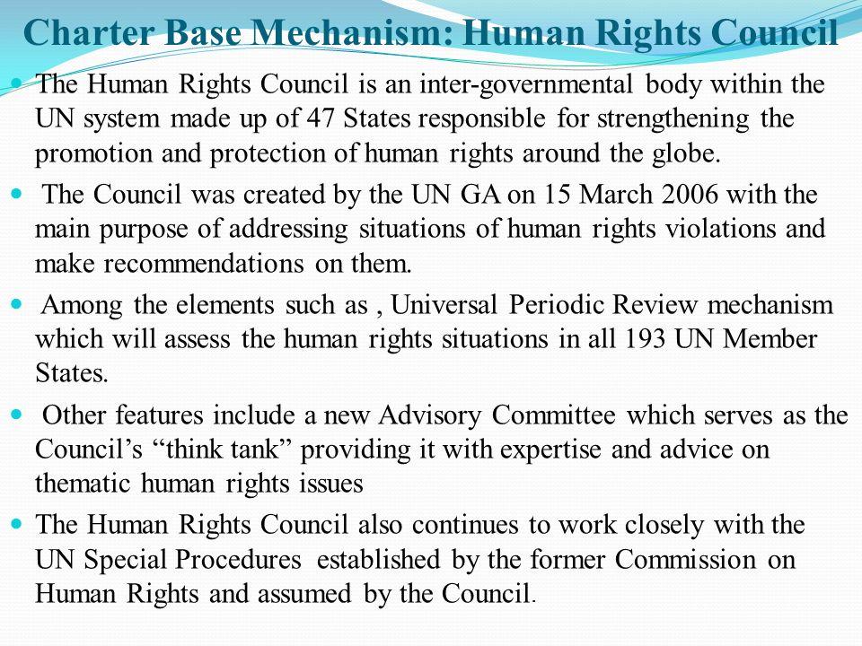 Charter Base Mechanism: Human Rights Council