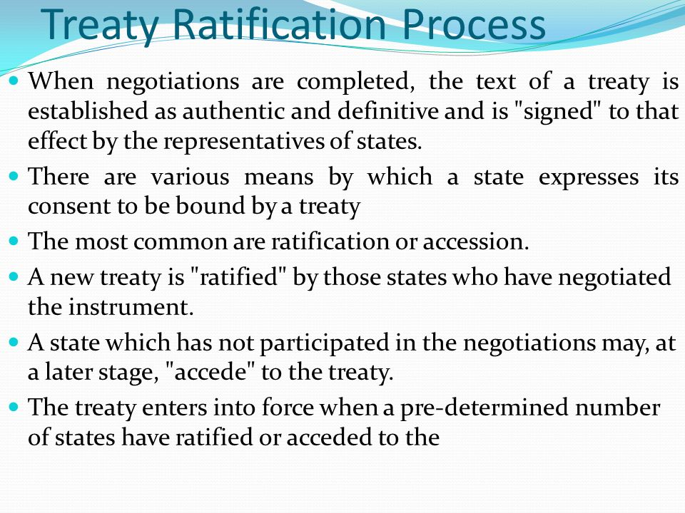 Treaty Ratification Process