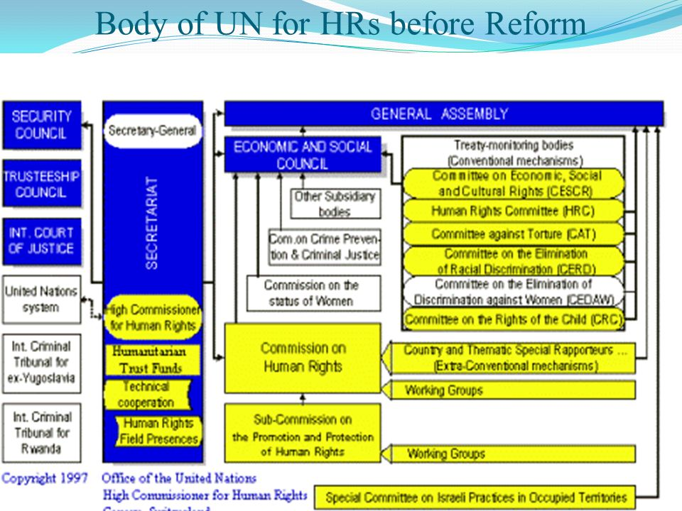 Body of UN for HRs before Reform