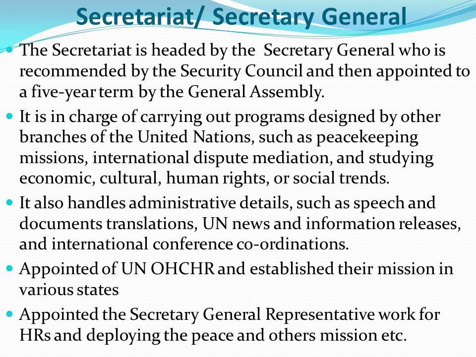 Secretariat/ Secretary General