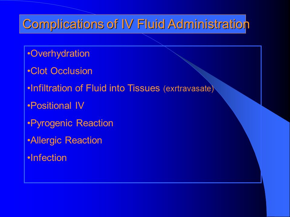 Complications of IV Fluid Administration