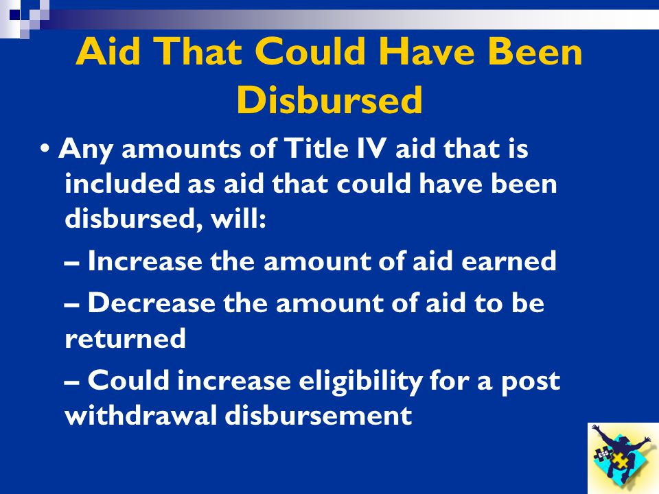 Aid That Could Have Been Disbursed