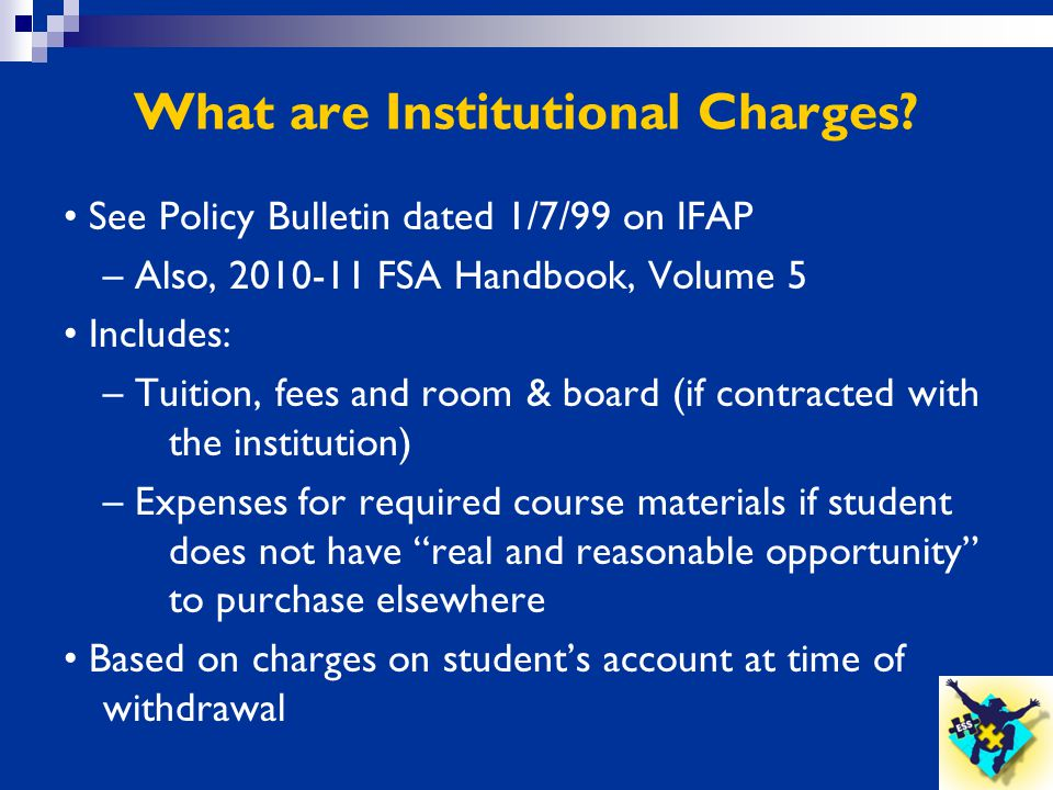 What are Institutional Charges