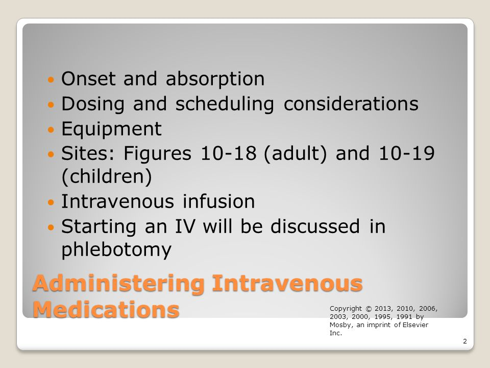 Administering Intravenous Medications