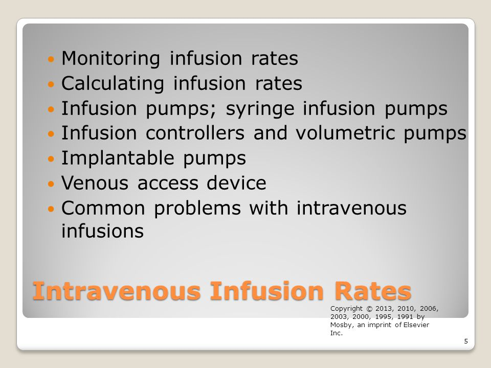 Intravenous Infusion Rates