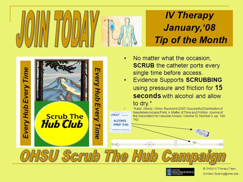 Ohsu Scrub The Hub Campaign Ppt Video Online Download
