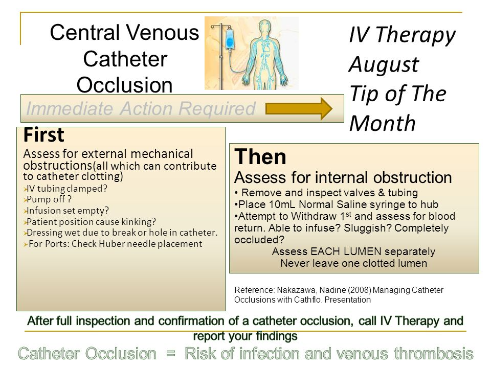 IV Therapy August Tip of The Month First Central Venous Catheter