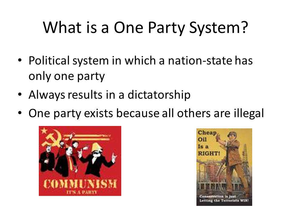 What is a One Party System