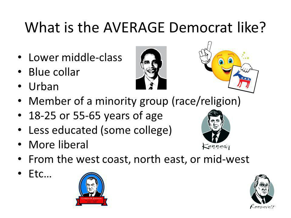 What is the AVERAGE Democrat like