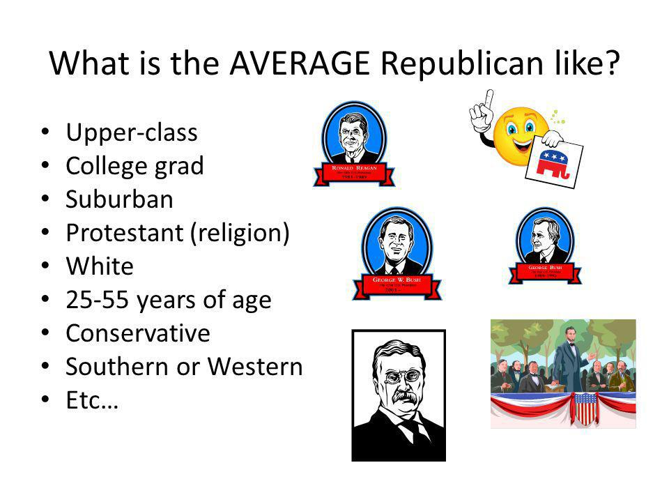 What is the AVERAGE Republican like