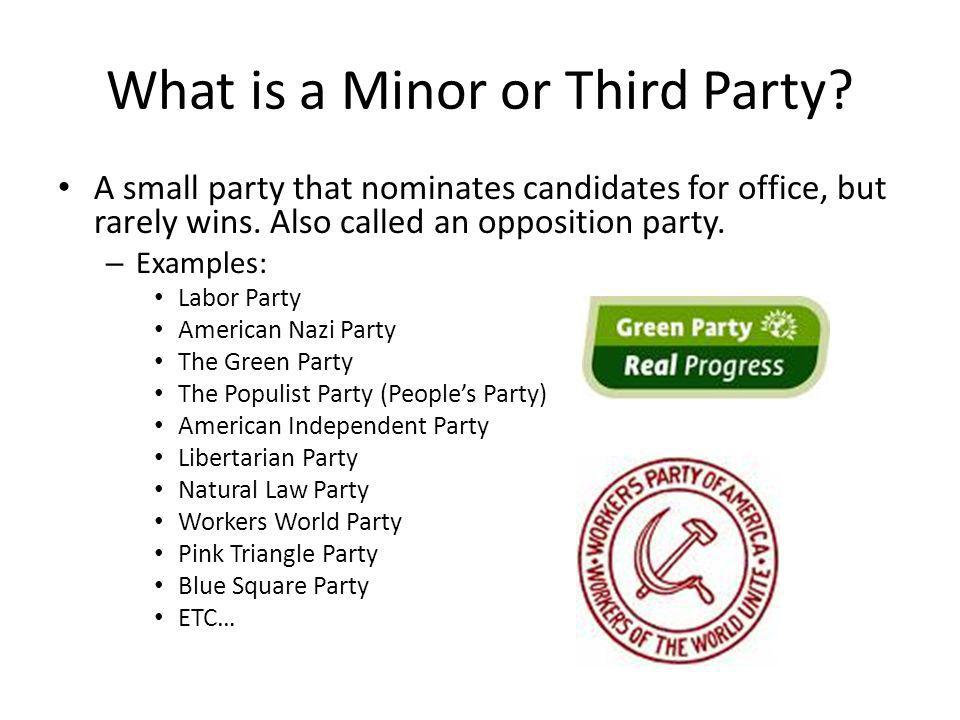 What is a Minor or Third Party