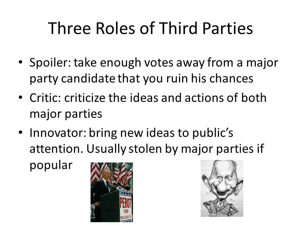 Three Roles of Third Parties