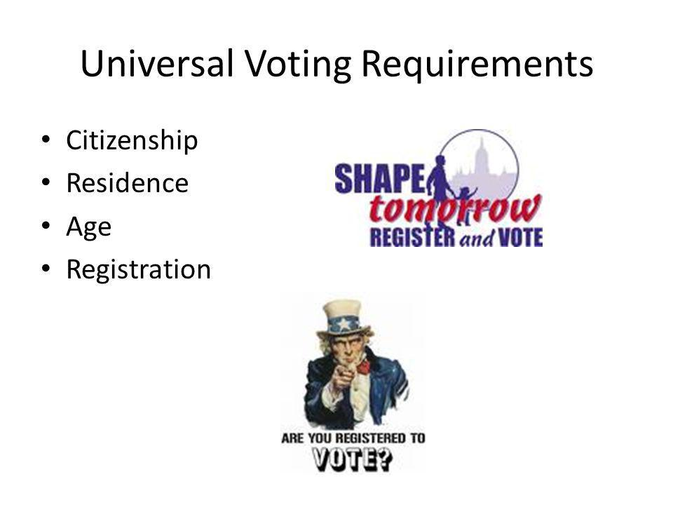 Universal Voting Requirements