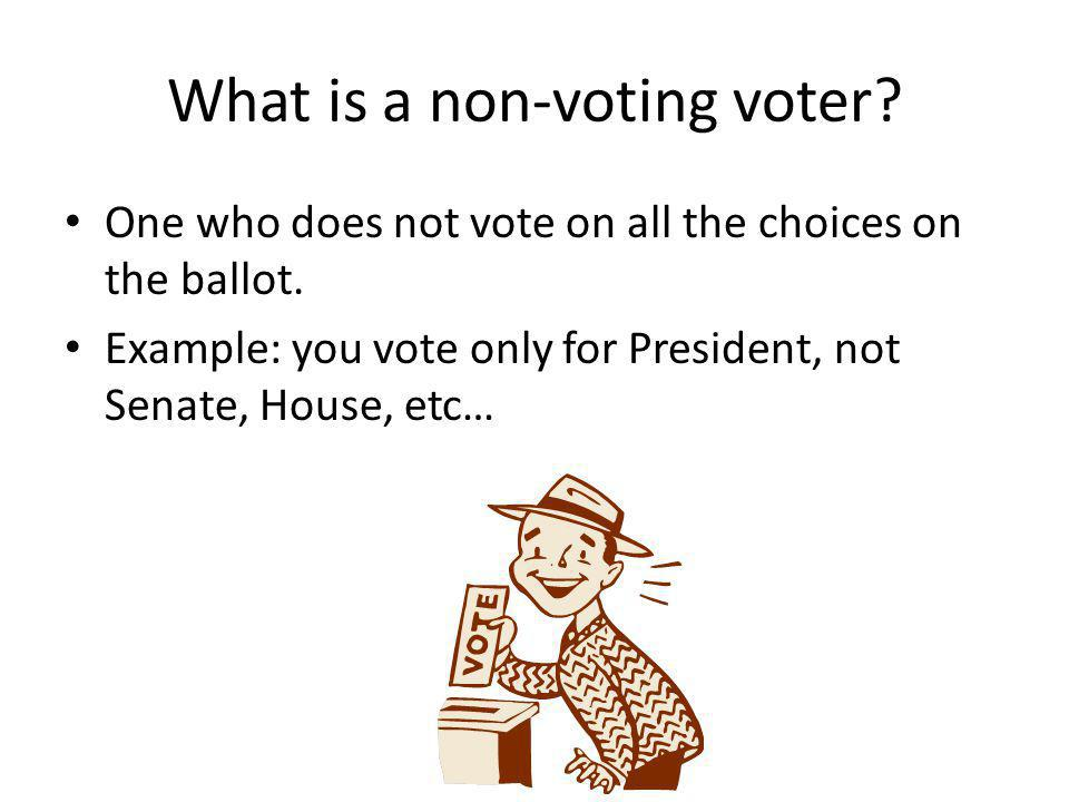 What is a non-voting voter