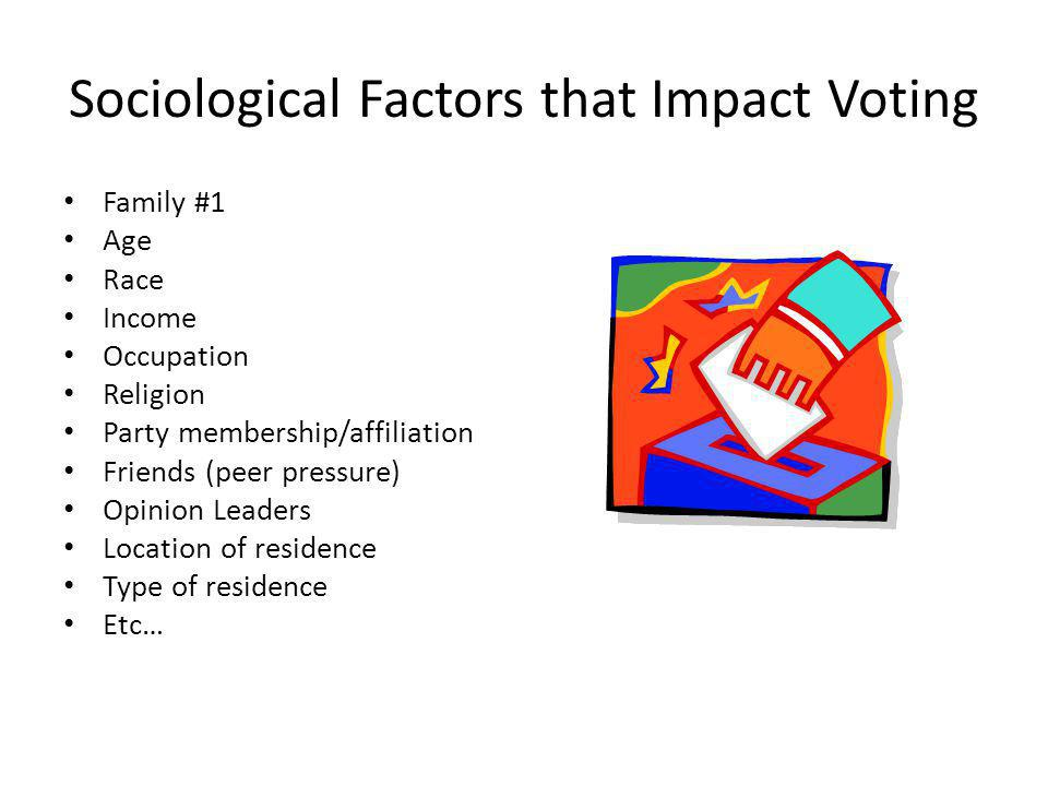 Sociological Factors that Impact Voting
