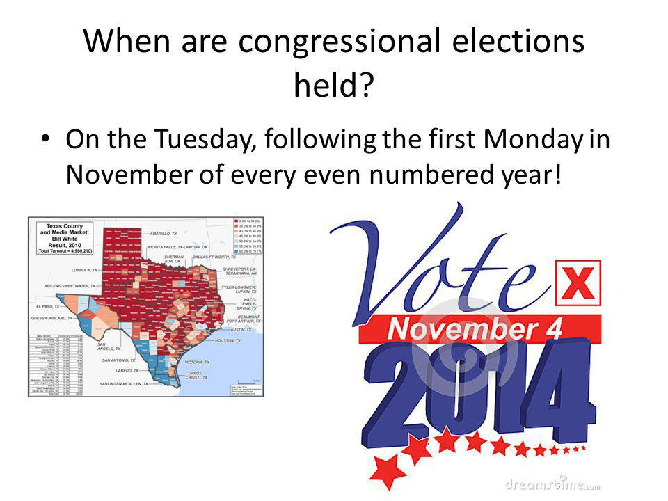 When are congressional elections held