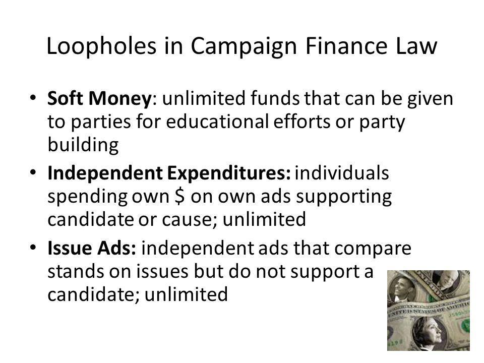 Loopholes in Campaign Finance Law