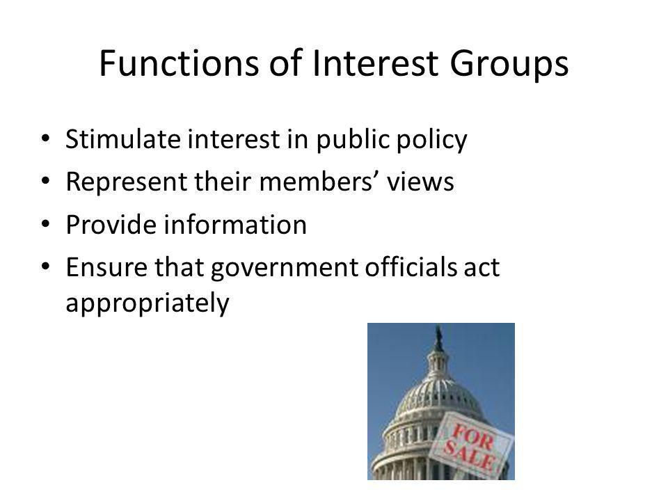Functions of Interest Groups