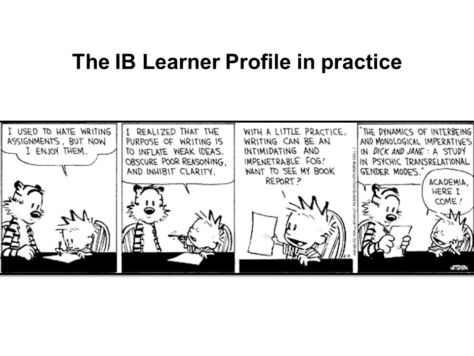 The IB Learner Profile in practice