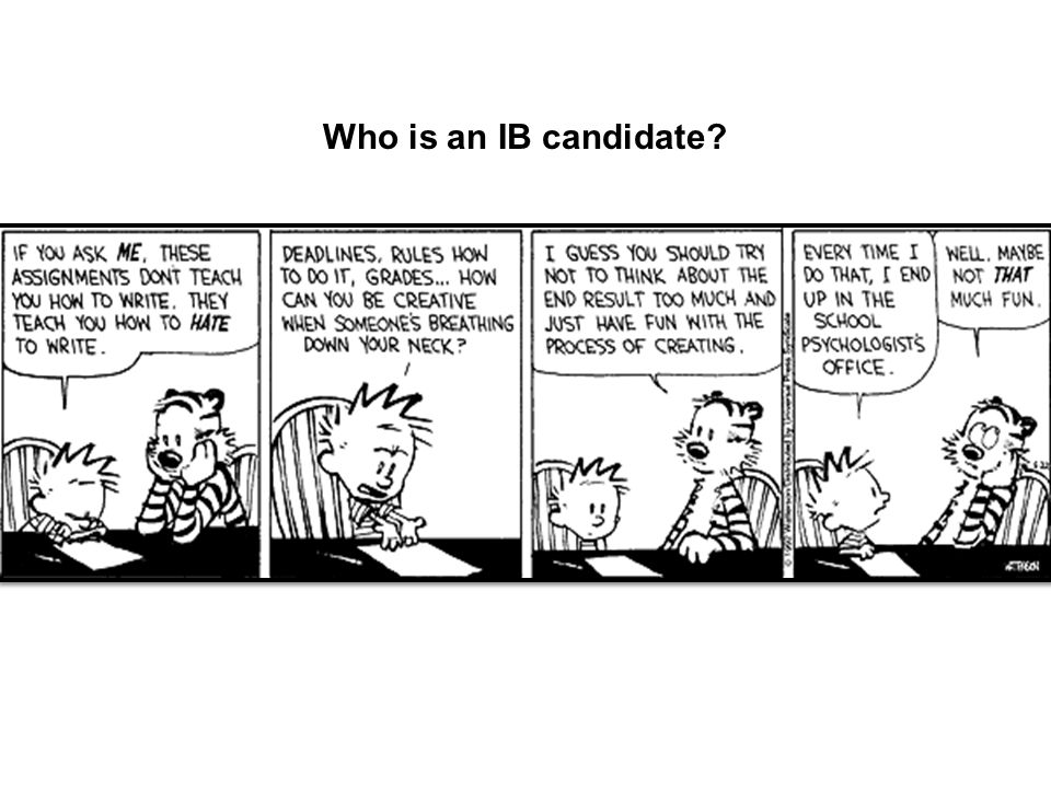 Who is an IB candidate