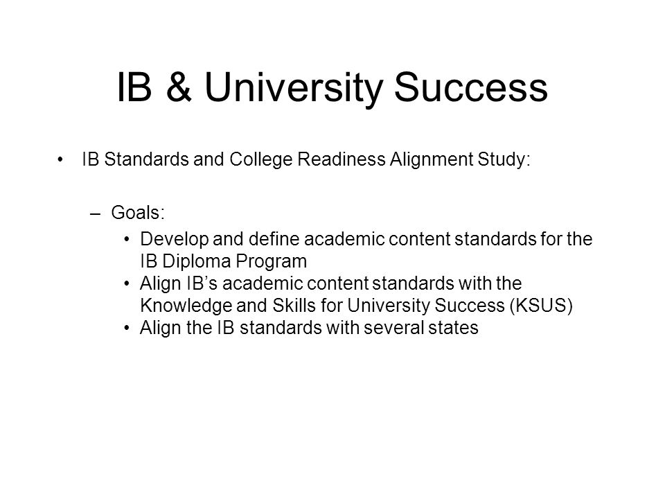 IB & University Success