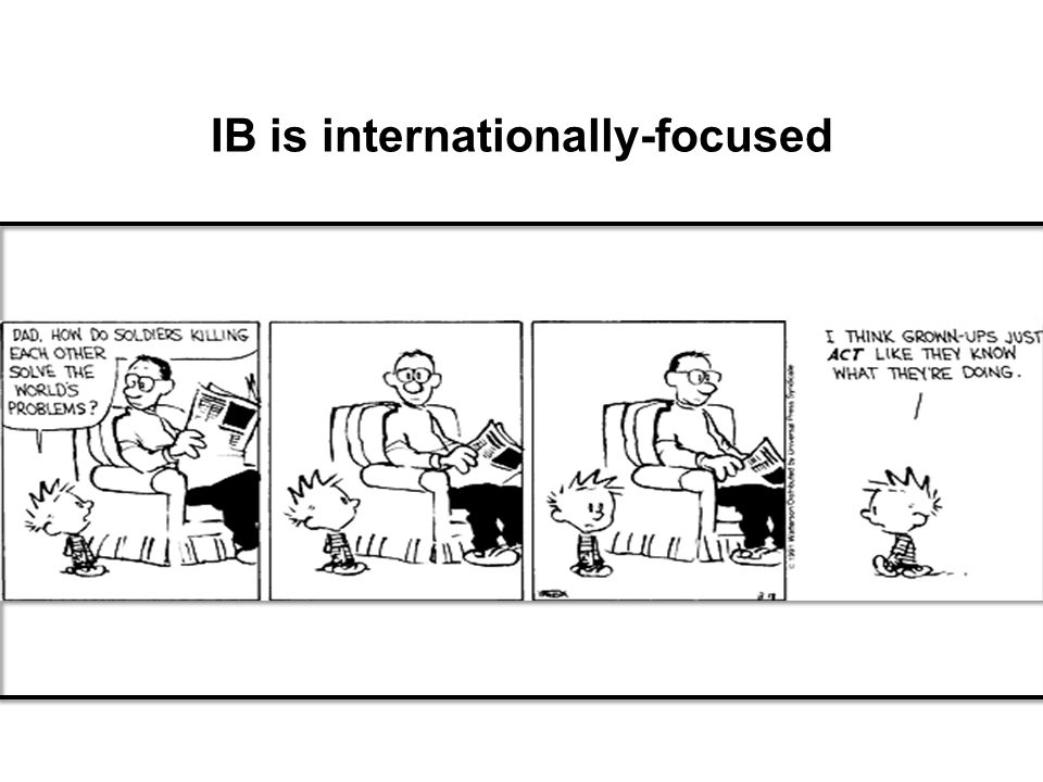 IB is internationally-focused