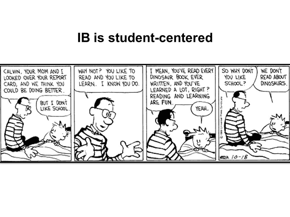 IB is student-centered