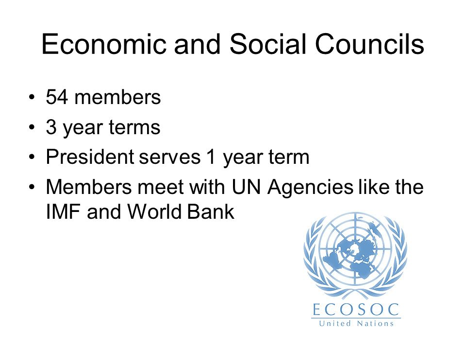 Economic and Social Councils