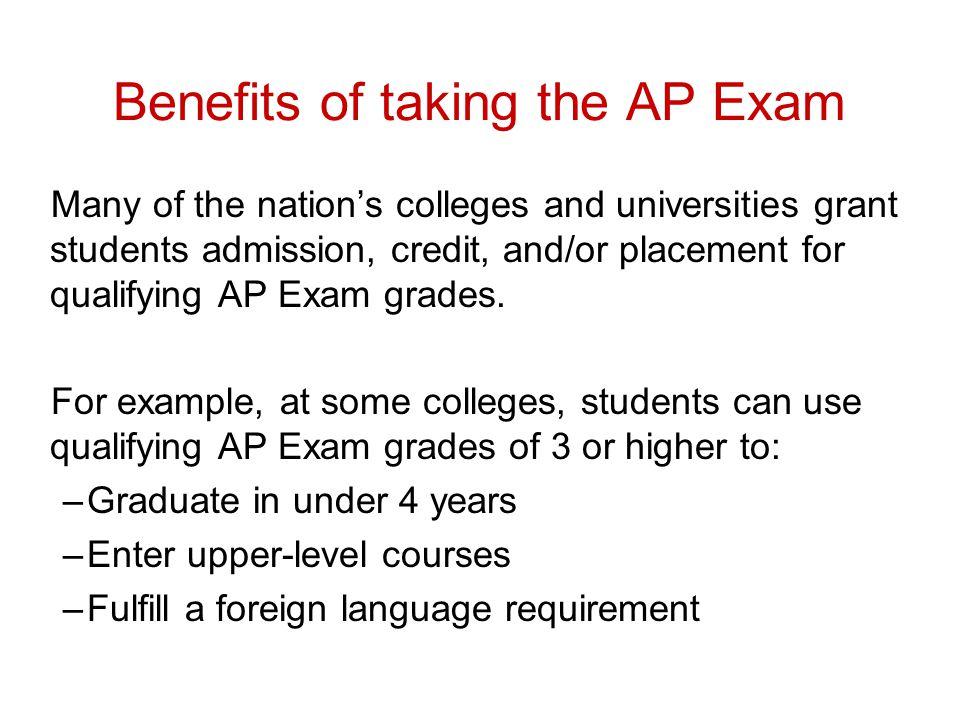 Benefits of taking the AP Exam