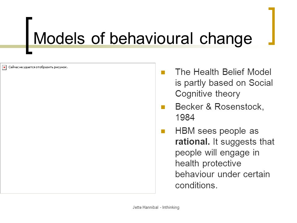 Models of behavioural change