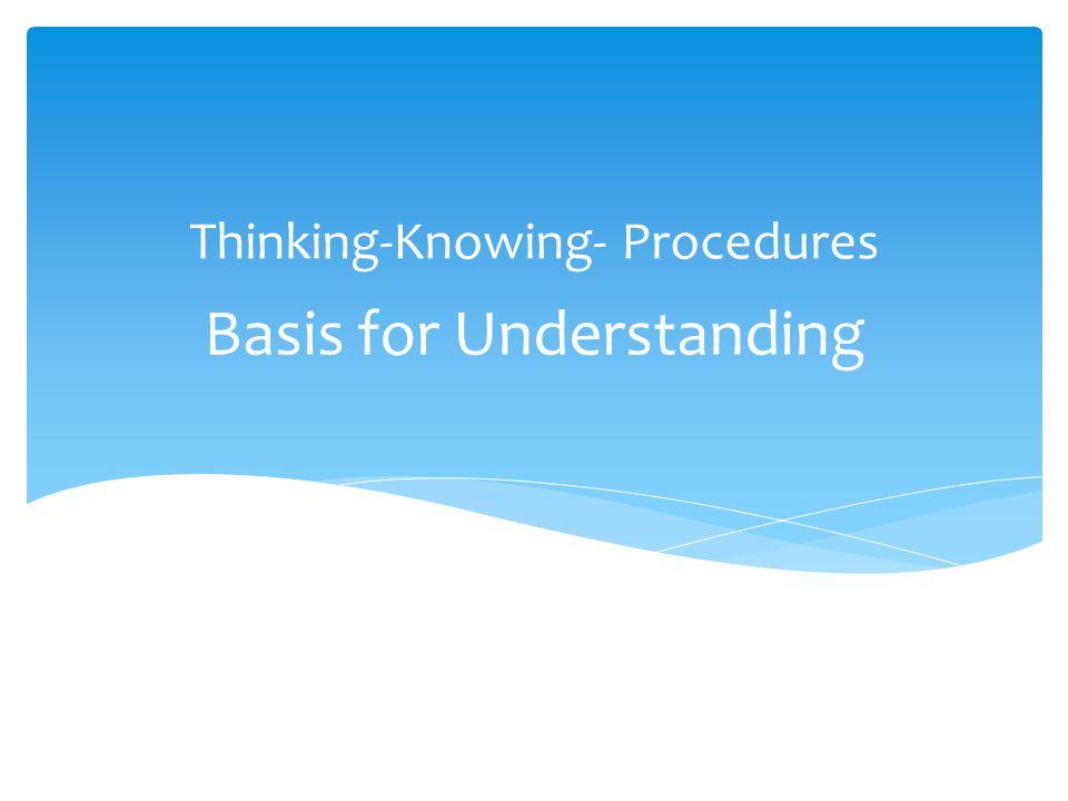 Basis for Understanding