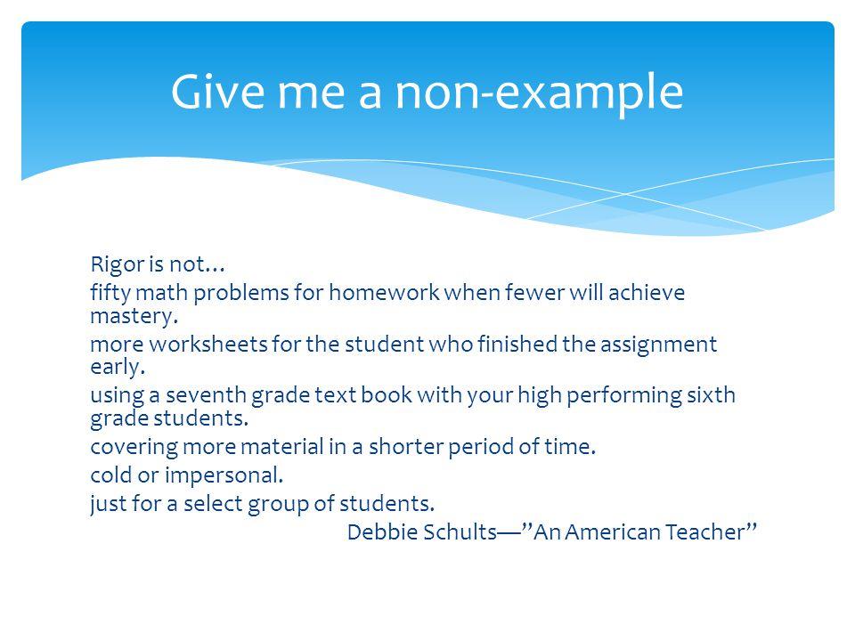Give me a non-example
