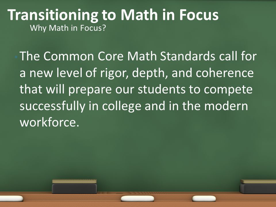 Transitioning to Math in Focus