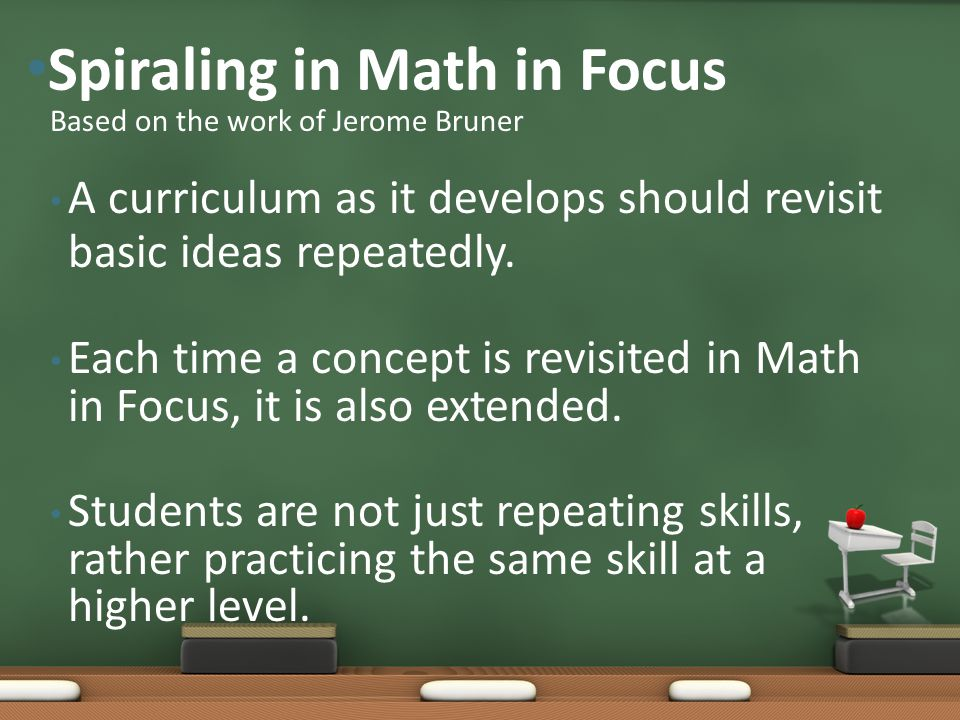 Spiraling in Math in Focus