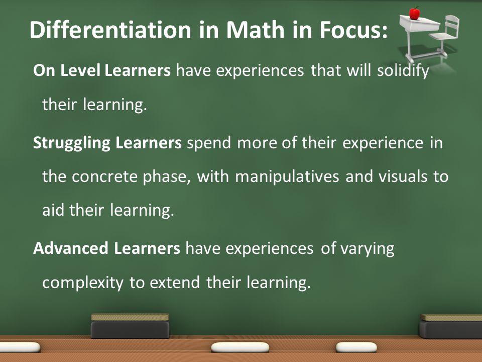 Differentiation in Math in Focus: